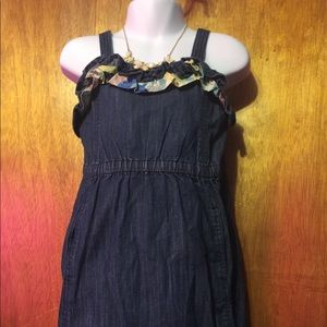 Summer ruffles juicy couture jean sundress size: 5